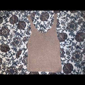 Crochet tank NWOT